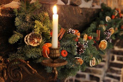 Lemoncitrustree citrus blog for Christmas garland on fireplace